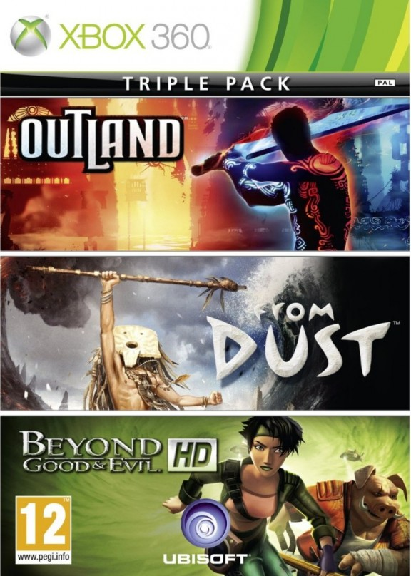 Xbox 360 3in1 Outland + From Dust + Beyond Good and Evil