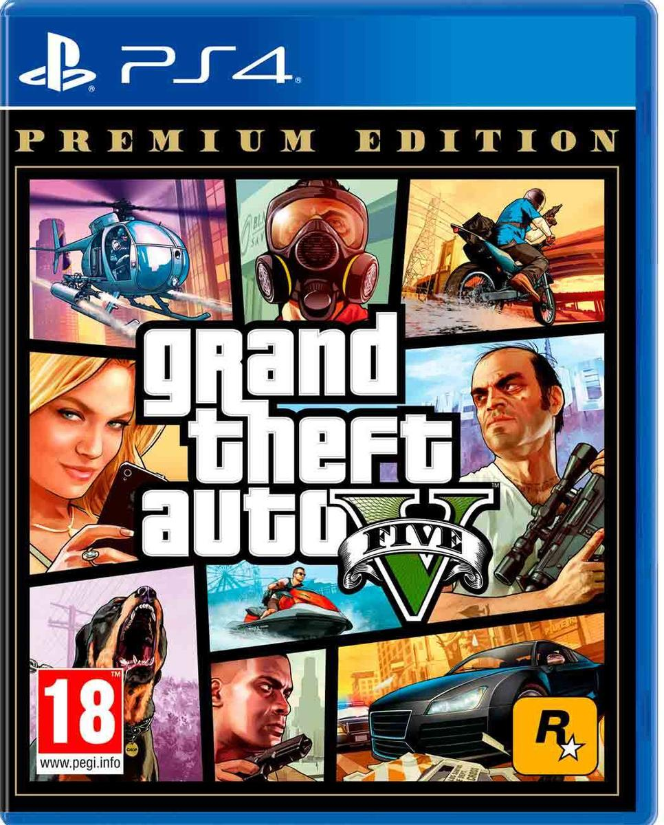 PS4 Grand Theft Auto V Premium Edition (GTA 5) (русские субтитры)